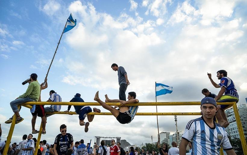 Copacabana argentine fans